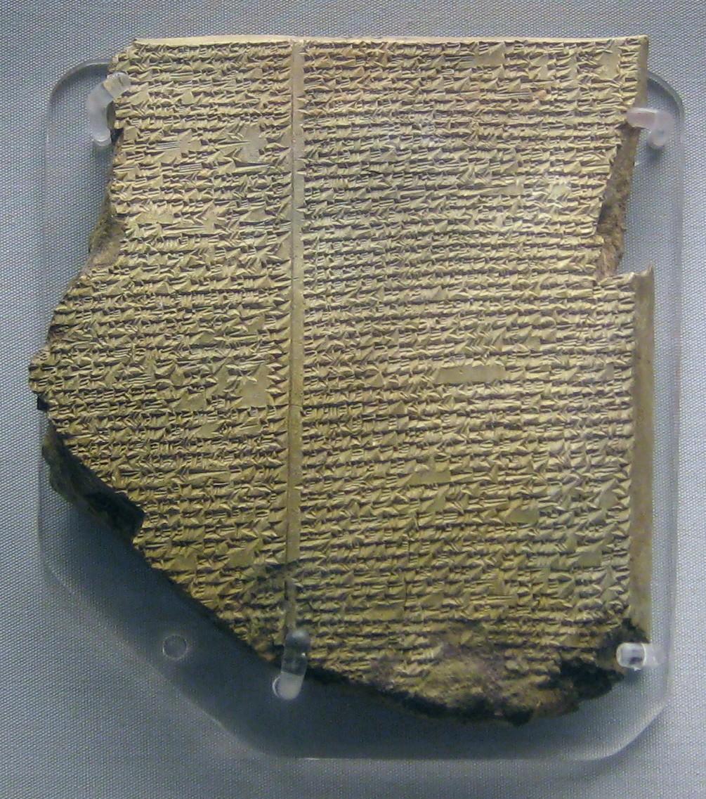 La XIe tablette de la version de Ninive de l'Épopée de Gilgamesh, relatant le Déluge.
